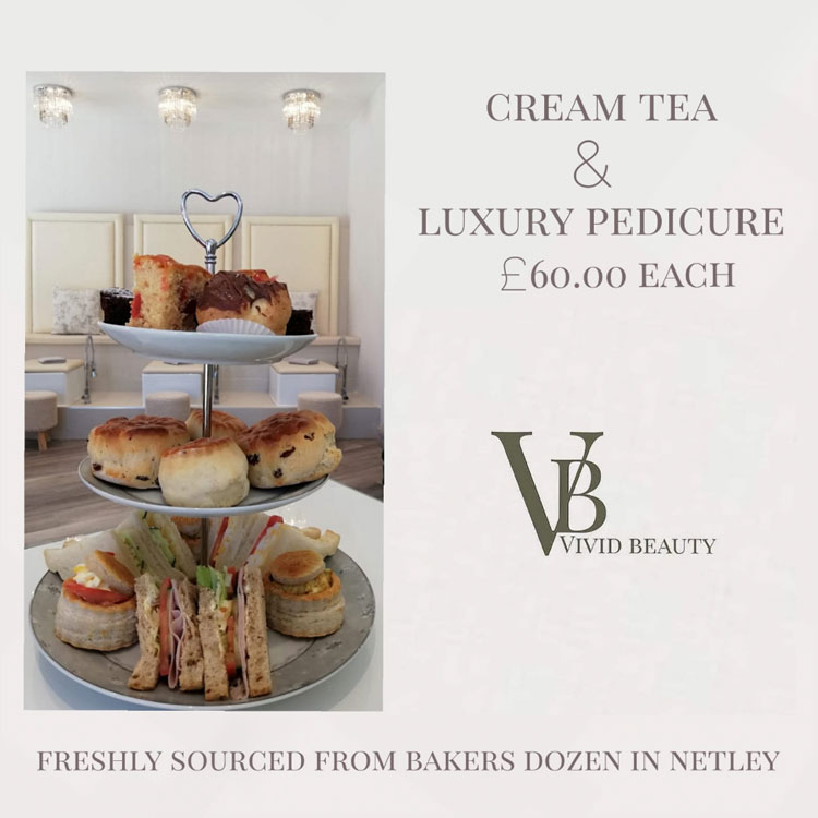 Luxury Pedicure and Cream Tea